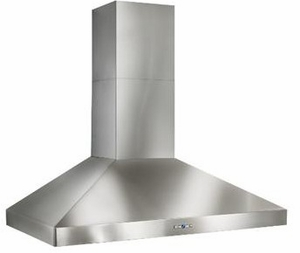 """WPP9E48SB Best Colonne 48"""" Stainless Steel Chimney Range Hood with a choice of Exterior or In-line Blowers - Stainless Steel"""
