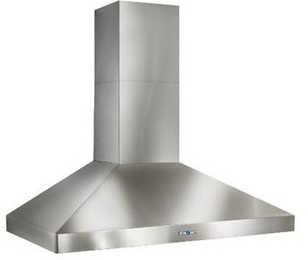 "WPP9E54SB Best Colonne 54"" Stainless Steel Chimney Range Hood with a choice of Exterior or In-line Blowers - Stainless Steel"