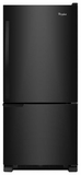 WRB119WFBB Whirlpool 19 cu. ft. Bottom-Freezer Refrigerator with LED Lighting - Black