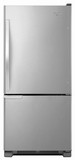 WRB119WFBM Whirlpool 19 cu. ft. Bottom-Freezer Refrigerator with LED Lighting - Stainless Steel