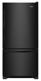 WRB322DMBB Whirlpool 22 cu. ft. Bottom-Freezer Refrigerator with Freezer Drawer - Black