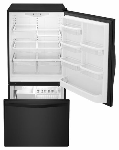 Bottom Freezer Refrigerator With Freezer Drawer   Black