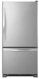 WRB329DMBM Whirlpool 19 cu. ft. Bottom-Freezer Refrigerator with Freezer Drawer - Stainless Steel