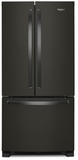 "WRF532SMHV Whirlpool 33"" 22 Cu. Ft. French Door Bottom Mount Refrigerator with Humidity Controlled Crispers and AccuChill Temperature Management - Fingerprint Resistant Black Stainless Steel"