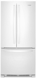 "WRF532SMHW Whirlpool 33"" 22 Cu. Ft. French Door Bottom Mount Refrigerator with Humidity Controlled Crispers and AccuChill Temperature Management - White"