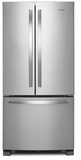 "WRF532SMHZ Whirlpool 33"" 22 Cu. Ft. French Door Bottom Mount Refrigerator with Humidity Controlled Crispers and AccuChill Temperature Management - Fingerprint Resistant Stainless Steel"