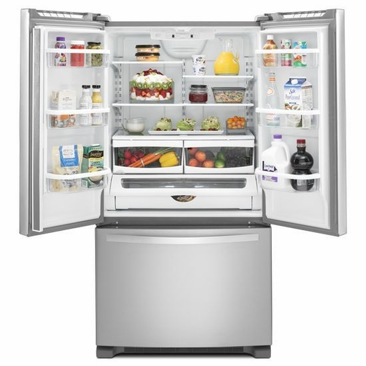Wrf535smbm Whirlpool 25 Cu Ft French Door Refrigerator With