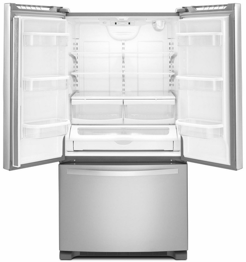 Wrf535swbm Whirlpool 25 Cu Ft French Door Refrigerator With Interior Water Dispenser