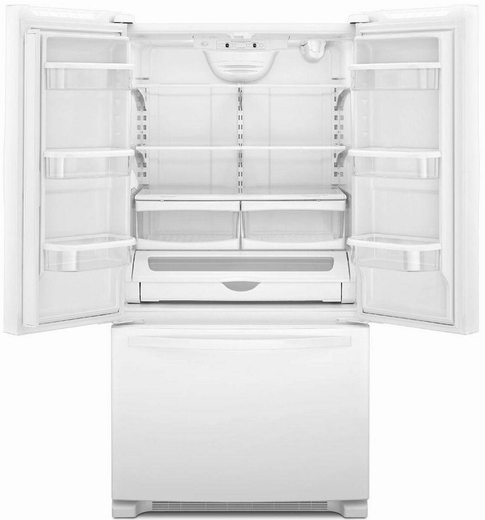 Wrf535swbw Whirlpool 25 Cu Ft French Door Refrigerator With Interior Water Dispenser White