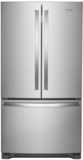 """WRF535SWHZ Whirlpool 36"""" 25.2 cu. ft. Capacity French Door Refrigerator with Temperature-Controlled Drawer and Interior Water Dispenser - Stainless Steel"""