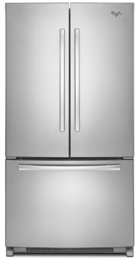 WRF540CWBM Whirlpool 20 cu. ft. French Door Refrigerator with Counter Depth Styling - Stainless Steel