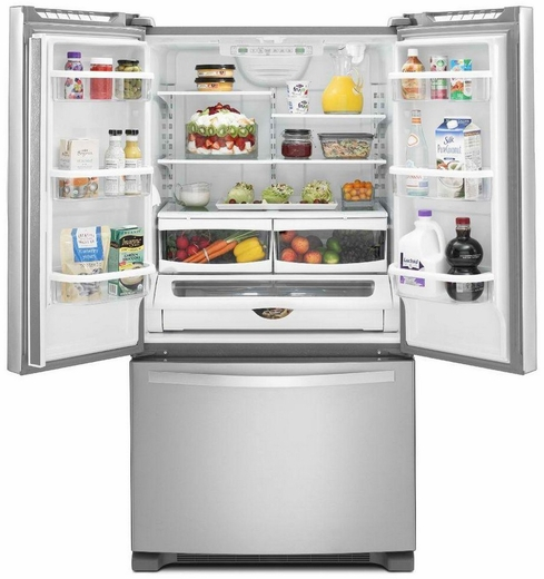 Wrf540cwbm Whirlpool 20 Cu Ft French Door Refrigerator With