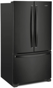 """WRF540CWHB Whirlpool 36"""" Counter Depth French Door Refrigerator with Interior Water Dispenser and LED Interior Lighting - Black"""