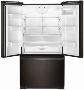 "WRF540CWHV Whirlpool 36"" Counter Depth French Door Refrigerator with Interior Water Dispenser and LED Interior Lighting - Black Stainless Steel"