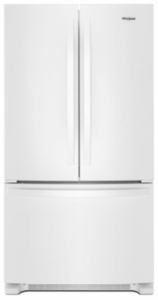 "WRF540CWHW Whirlpool 36"" Counter Depth French Door Refrigerator with Interior Water Dispenser and LED Interior Lighting - White"