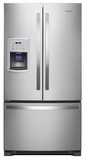 "WRF550CDHZ Whirlpool 36"" 20 cu. ft Counter Depth French Door Refrigerator with Humidity Controlled Crispers and Spillproof Glass Shelves - Fingerprint Resistant Stainless Steel"