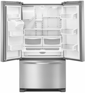 "WRF555SDFZ Whirlpool 36"" 25 Cu. Ft. French Door Bottom Mount Refrigerator with Two-Tier Freezer Storage and EveryDrop Filtration - Fingerprint Resistant Stainless Steel"