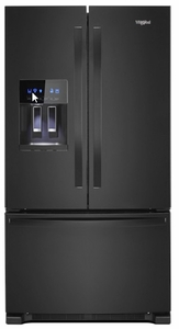 "WRF555SDHB Whirlpool 36"" 25 Cu. Ft. French Door Bottom Mount Refrigerator with Two-Tier Freezer Storage and EveryDrop Filtration - Black"