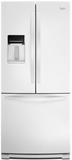 "WRF560SEYW Whirlpool 30"" French Door Refrigerator with Exterior Dispenser - White"
