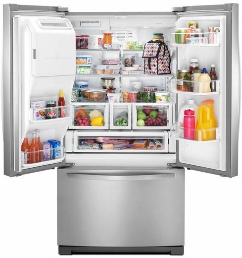 French Door Bottom Freezer Refrigerator With StoreRight System    Monocromatic Stainless Steel
