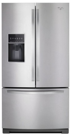 "WRF767SDEM Whirlpool 36"" 27 cu.ft. Wide French Door Bottom Freezer Refrigerator with Dual Icemakers - Stainless Steel"