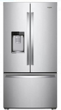 "WRF954CIHM Whirlpool 36"" 24 Cu. Ft. French Door Free Standing Refrigerator with Freeze Shield and LED Lighting - Monochromatic Stainless Steel"