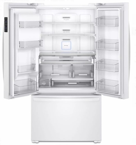 "WRF954CIHW Whirlpool 36"" 24 Cu. Ft. French Door Free Standing Refrigerator with Freeze Shield and LED Lighting - White"