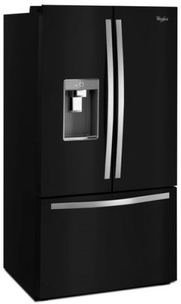 Wrf992fife Whirlpool 36 32 Cu Ft French Door Refrigerator With Infinity Slide Shelf And Platter Pocket Black Ice