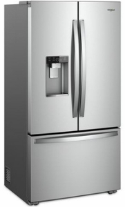 "WRF954CIHZ Whirlpool 36"" 24 Cu. Ft. French Door Free Standing Refrigerator with Freeze Shield and LED Lighting - Fingerprint Resistant Stainless Steel"