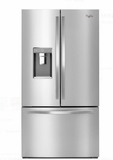 "WRF995FIFM Whirlpool 36"" 32 Cu. Ft. French Door Refrigerator with Infinity Slide Shelf and Treasure Bin - Fingerprint Resistant Stainless Steel"