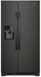 """WRS321SDHB Whirlpool 33"""" 21.4 Cu. Ft. Capacity Side-By-Side Refrigerator with LED Lighting and Built-In Ice Maker- Black"""