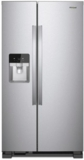 "WRS321SDHZ Whirlpool 33"" 21.4 Cu. Ft. Capacity Side-By-Side Refrigerator with LED Lighting and Built-In Ice Maker - Fingerprint Resistant Stainless Steel"