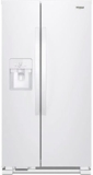 "WRS325SDHW Whirlpool 36"" 24.6 Cu. Ft. Capacity Side-By-Side Refrigerator with LED Lighting and Built-In Ice Maker - White"