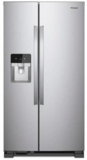 "WRS325SDHZ Whirlpool 36"" 24.6 Cu. Ft. Capacity Side-By-Side Refrigerator with LED Lighting and Built-In Ice Maker - Fingerprint Resistant Stainless Steel"