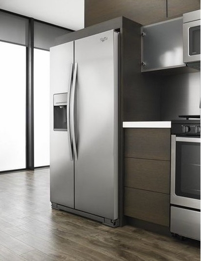 WRS571CIDM Whirlpool 21 cu. ft. Side-by-Side Refrigerator with Counter Depth Styling - Monochromatic Stainless Steel