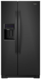 """WRS571CIHB Whirlpool 36"""" 20.59 Cu. Ft. Capacity Freestanding Counter Depth Side by Side Refrigerator with Accu-Chill Temperature Management System and LED Interior Lighting - Black"""