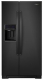 """WRS588FIHB Whirlpool 36"""" 28 Cu. Ft. Capacity Side-By-Side Refrigerator with AccuChill Temperature Management  and InDoorIce Storage - Black"""