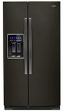 "WRS588FIHV Whirlpool 36"" 28 Cu. Ft. Capacity Side-By-Side Refrigerator with AccuChill Temperature Management  and InDoorIce Storage - Finger Print Resistant Black Stainless Steel"