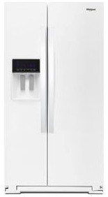 "WRS588FIHW Whirlpool 36"" 28 Cu. Ft. Capacity Side-By-Side Refrigerator with AccuChill Temperature Management  and InDoorIce Storage - White"