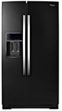 """WRS970CIDE Whirlpool 20 Cu. Ft. 36"""" Wide Side-by-Side Counter Depth Refrigerator with StoreRight Dual Cooling System - Black"""