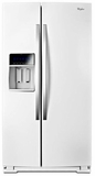 "WRS970CIDH Whirlpool 20 Cu. Ft. 36"" Wide Side-by-Side Counter Depth Refrigerator with StoreRight Dual Cooling System - White"