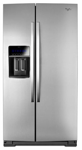 "WRS970CIDM Whirlpool 20 Cu. Ft. 36"" Wide Side-by-Side Counter Depth Refrigerator with StoreRight Dual Cooling System - Stainless Steel"