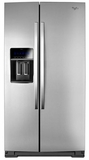 "WRS973CIDM Whirlpool 36"" Wide Side by Side Counter Depth 23 Cu. Ft. Refrigerator - Stainless Steel"