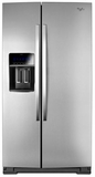 WRS975SIDM Whirlpool 25 Cu. Ft. 36-inch Wide Side-by-Side Refrigerator with StoreRight Dual Cooling System - Stainless Steel