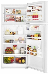 "WRT316SFDW Whirlpool 28"" Wide Top-Freezer 16 Cu. Ft. Refrigerator with Improved Design - White"