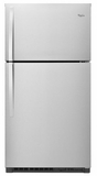 "WRT511SZDM Whirlpool 33"" Wide Top-Freezer Refrigerator with LED Interior Lighting - Monochromatic Stainless Steel"
