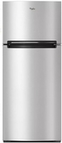 "WRT518SZFG Whirlpool 28"" Wide Top-Freezer Refrigerator with Gallon Door Storage and Pocket Handles - Metallic Steel"
