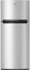 "WRT518SZFM Whirlpool 28"" Wide Top-Freezer Refrigerator with Gallon Door Storage and Pocket Handles - Stainless Steel"