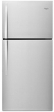 "WRT519SZDD Whirlpool 30"" Wide Top-Freezer Refrigerator with LED Interior Lighting - Universal Silver"