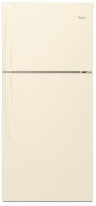 """WRT519SZDT Whirlpool 30"""" Wide Top-Freezer Refrigerator with LED Interior Lighting - Biscuit"""